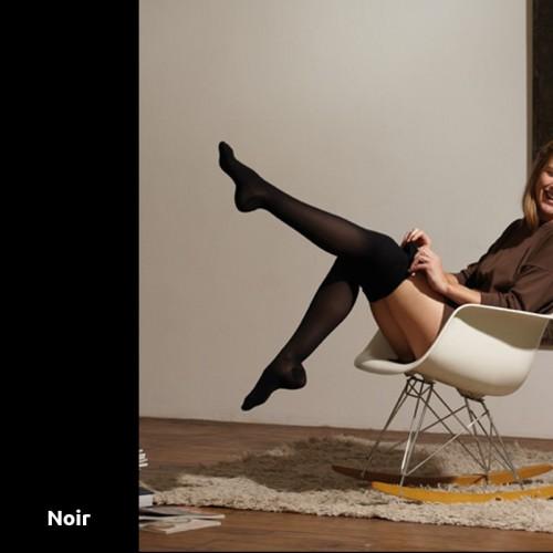Chaussettes de contention Thuasne Venoflex Secret noires Classe 2 mollet -