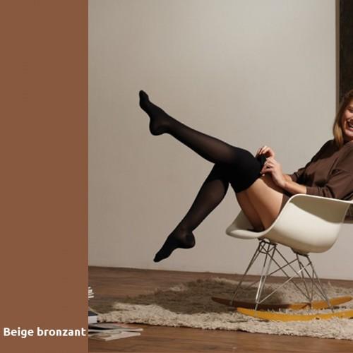 Chaussettes de contention Thuasne Venoflex Secret beige bronzant Classe 2