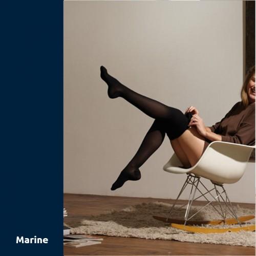 Chaussettes de contention Thuasne Venoflex Secret marine Classe 2