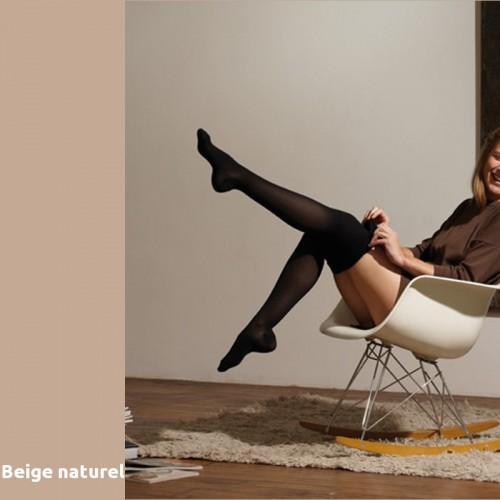 Chaussettes de contention Thuasne Venoflex Secret beige naturel Classe 2