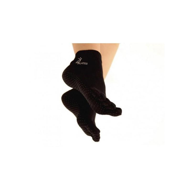 Chaussettes Antidérapantes avec orteils Noires