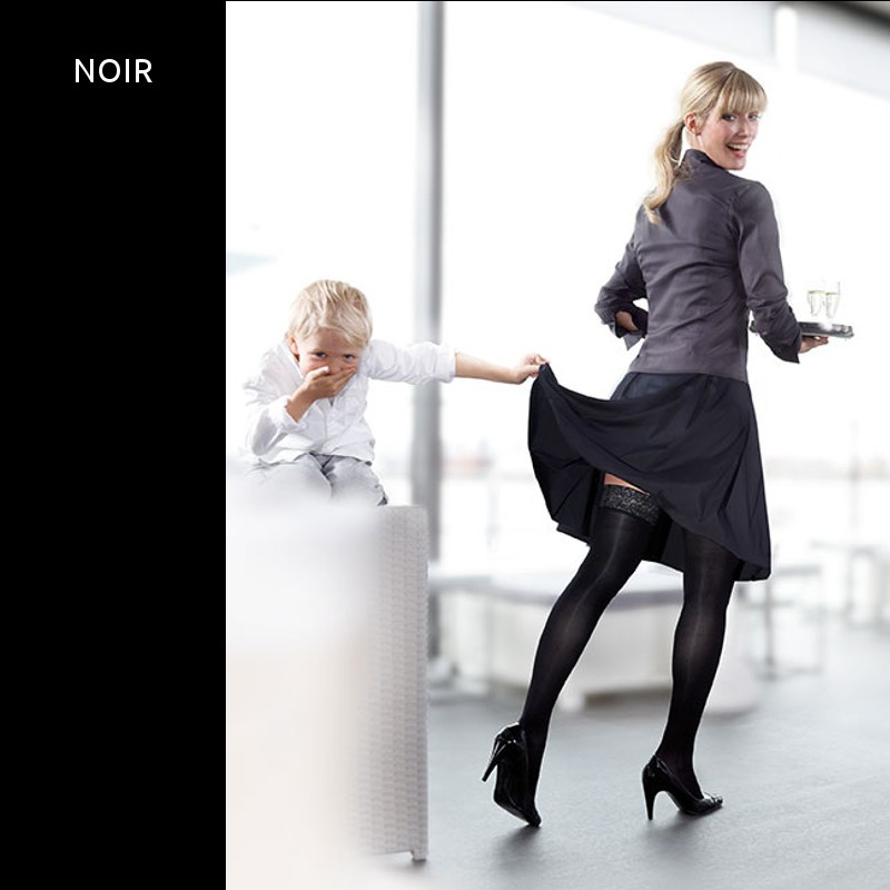 Bas de contention elegance classe 3 noir mediven