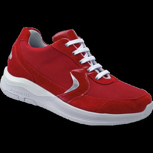PODARTIS Chaussure de Marche Confort Rouge Femme