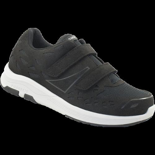 PODARTIS Chaussure de Marche Confort Noire Homme Velcro