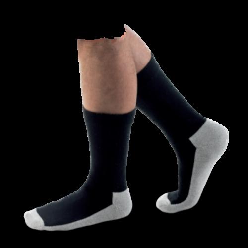 Chaussettes pour Diabétique Noires avec dessous clair NEUT