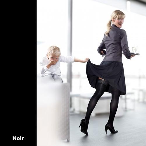 Chaussettes de Contention Mediven Elégance Noir Classe 2